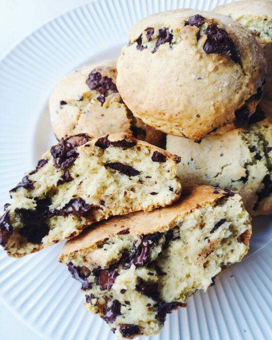 scones au chocolat (vegan)
